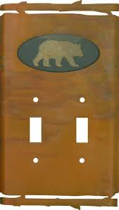 bear light switch covers rustic bear switch plates decorative