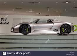 porsche concept cars germany stuttgart porsche museum spyder 918 concept car stock