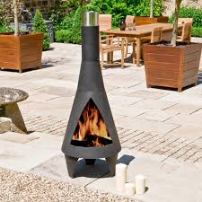 Hearth Garden Patio Furniture Covers by Costco Uk La Hacienda Colorado Steel Chimenea 1 X 1 1kg Easy