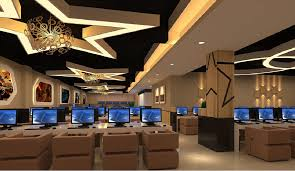 design cyber cafe furniture cyber cafe design interior 3d interior internet cafe ceiling ideas