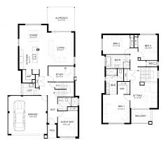 two storey residential house floor plan with elevation interior