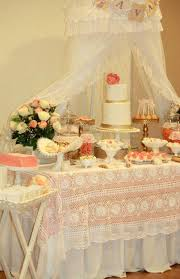Kara s Party Ideas Vintage Peach Gold Baby Shower Planning Ideas