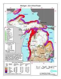 Map Michigan Windexchange Michigan 50 Meter Community Scale Wind Resource Map