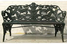 Cast Iron Loveseat Cast Iron Wood Fern Pattern Garden Bench