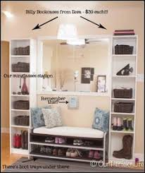 Entryway Furniture Ikea Ikea Mudroom 2 Expedit Bookcases Besta Storage With Drawers