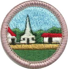 working on the citizenship in the community merit badge helps boy