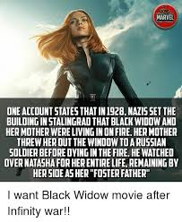 Black Widow Meme - marvel act fice oneaccount statesthat in1928 nalisset the building