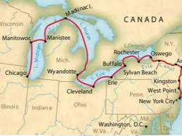map of the erie canal erie canal 2