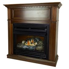 Ventless Wall Mount Gas Fireplace Pleasant Hearth 27 500 Btu 42 In Convertible Ventless Natural Gas