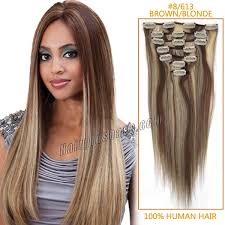 18 inch hair extensions before and after inch 8 613 brown blonde clip in human hair extensions 10pcs