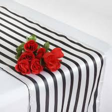 black and white table runners cheap lovable satin stripes table runner white black tablecloths