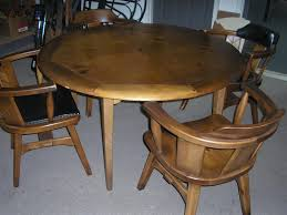 habitant knotty pine complete dining set made in bay city mi
