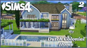 the sims 4 large dutch colonial basegame home 2 2 house build