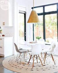 wonderful kitchen table options whitewash wooden jute ideas round