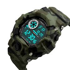 timsty digital sports boys watch waterproof military camouflage