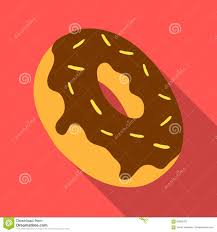 donut icon in flate style isolated on white background usa