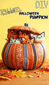 diy halloween kitten pumpkin u2013 top easy kid craft design for decor