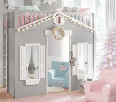 Playhouse Bunk Bed Playhouse Loft Bed Pottery Barn