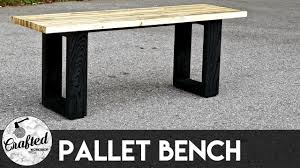 how to build a modern pallet wood bench crafted workshop youtube