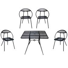 salterini mid century modern steel outdoor or patio dining set