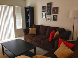 home design living room no couch ideas with brown white leather
