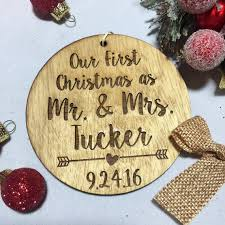 our as mr and mrs ornament personalized with