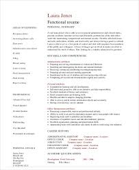 Executive Assistant Functional Resume Sample Admin Assistant Resume 9 Examples In Word Pdf