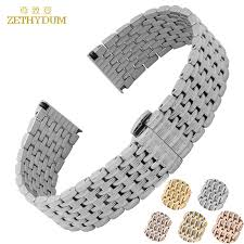 solid metal bracelet images Metal stainless steel watch band wrist strap 16mm 18mm 20mm 22mm jpg
