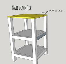Small End Table Plans Free by Makeover Monday Small X End Table Free Plans