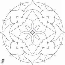 easy geometric coloring page free download
