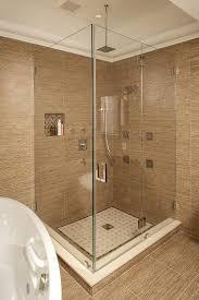 ceramic tile corner shelf install shower bathroom design ideas