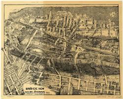 Birds Eye View Maps Vintage 8 X 12 Maplewood N J Wyllie H S Henry Shaw Wyllie