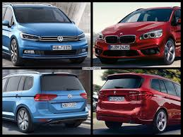 volkswagen bmw photo comparison volkswagen touran vs bmw 2 series gran tourer