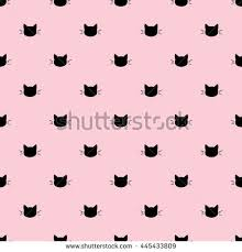 wallpaper cat illustration seamless pattern black heads cats on stock vector hd royalty free