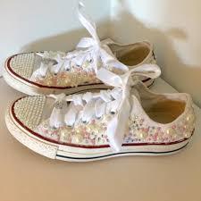 used wedding shoes converse wedding shoes used converse wedding shoes tradesy