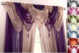9 piece swag u0026 voile panel curtain set many colours u0026 sizes