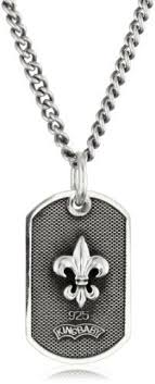 baby dog tags necklace dog tag style fleur de lis