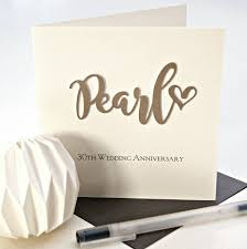30 wedding anniversary pearl 30th wedding anniversary card by the hummingbird card