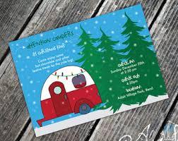 camper invitation etsy