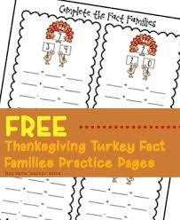 free thanksgiving turkey fact families practice sheets boy