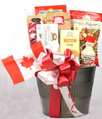 canada gift baskets canadian culture a canadian collection of and treats gift