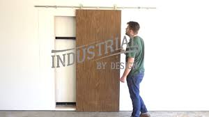Industrial Barn Door by Step By Step Stainless Barn Door Hardware Installation