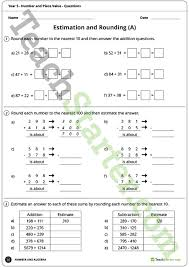 number and place value worksheets year 5 teaching resource
