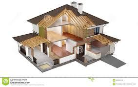 3d model of sliced house stock illustration image 63597119