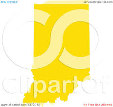 State Of Indiana Map by Clipart Of A Yellow Silhouetted Map Shape Of The State Of Indiana