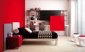 Marvelous Modern Red And White Theme Design Teenager Bedrooms With - White and red bedroom designs