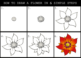 simple rose drawing step by step google search flower images