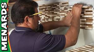How To Install A Mosaic Tile Backsplash In The Kitchen by Tile Backsplash How To Install Menards Youtube