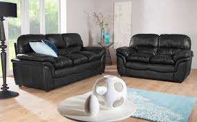 interior boring with black leather sofa give it a new look