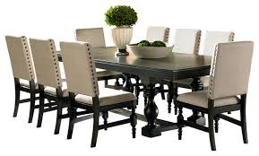 dining room the most steve silver leona 9 piece set traditional